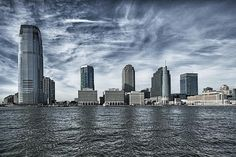 Jersey from the ferry boat in New York.  This is a specially treated print.