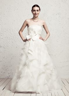 Princess A-Line With Ruffled Skirt Wedding Dress  Read More:     http://www.weddingspnina.com/index.php?r=princess-a-line-with-ruffled-skirt-wedding-dress.html