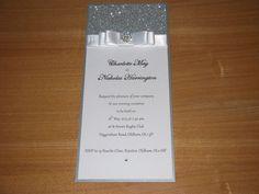 Handmade personalised Wedding Invitation sample The Hollywood Crystal | eBay
