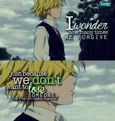 Je me demande combien de fois nous pardonnons juste parce que nous ne voulons pas perdre quelqu'un. Même s'ils ne méritent pas le pardon