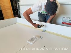 We rebuilt the water damaged roof of our 1994 Rockwood pop up camper. Here is how we reconstructed the interior frame and ceiling. Popup Camper, Diy Camper, Camper Ideas, New Pop Up Campers, Coleman Pop Up Campers, Teardrop Camper Trailer, Camper Trailers, Foam Roofing, Bricolage