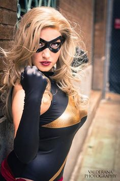 """Jaycee Cosplay as Ms. Marvel (Carol Danvers, also known as """"Warbird,"""" """"Binary,"""" and """"Captain Marvel."""" Some superheroes just can't make up their minds.) #cosplay"""