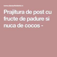 Prajitura de post cu fructe de padure si nuca de cocos - Coco