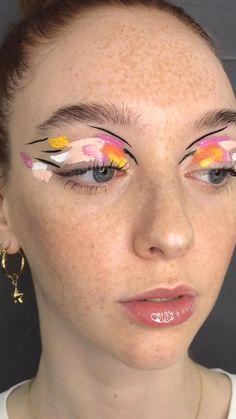 Pretty Makeup, Love Makeup, Simple Makeup, Makeup Inspo, Makeup Inspiration, Beauty Makeup, Mua Makeup, Eyeshadow Makeup, Edgy Makeup