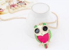 Fab Owl Necklace in Pink & Green http://www.lyliarose.com/ourshop/prod_3181362-Fab-Owl-Necklace-in-Pink-Green.html £4.99 (free UK delivery)