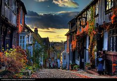 Mermaid Street, Rye by Rye Sussex, East Sussex, Alone In The Dark, Weird Dreams, Frozen In Time, England And Scotland, World Best Photos, Beautiful Images, The Good Place