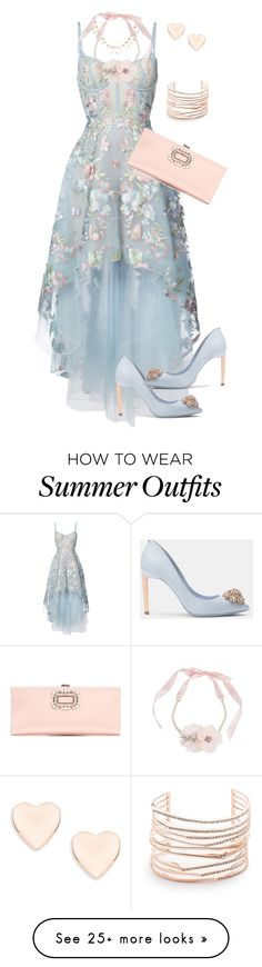 """""""Formal Wedding Attire"""" by sherrysrosecottage-1 on Polyvore featuring Notte by Marchesa, Ted Baker, Betsey Johnson and Alexis Bittar"""
