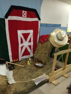 Farm dramatic play area