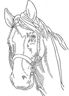 Free horse embroidery pattern: