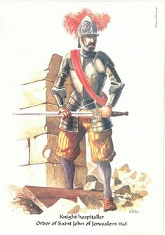 Knight Hospitaller of the Order of Saint John of Jerusalem during the Great Siege of Malta, 1565 Empire Total War, Malta History, Warhammer Fantasy Roleplay, Knights Hospitaller, Templer, Chivalry, 16th Century, Middle Ages, Fantasy Characters