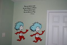 Dr. Suess baby rooms | Dr Seuss Dr. Suess Theme Wallpaper Wall paper Art Sticker Mural Decal ...