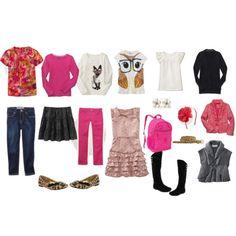 Back to School Girls Wardrobe