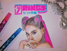 Ariana Grande - 7 Rings, for sale, message if you are interested. Thank U next Ariana Grande Drawings, Ariana Grande Wallpaper, Playbuzz Quizzes, Thank U, Paper Dimensions, Mixed Media Painting, Pink Floyd, Cool Artwork, Art For Sale