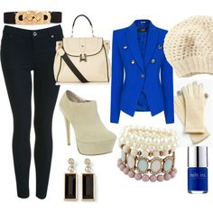 """A touch of blu"" by cristina-merli on Polyvore"