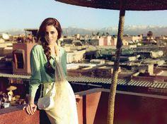 Cansu Dere in Morocco