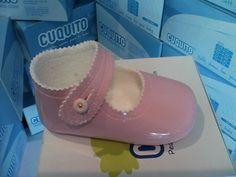 merceditas de bebé charol rosa