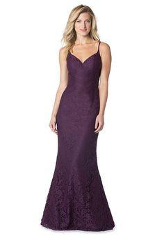 Spaghetti Strap Allover Lace Mermaid Dress | Bari Jay Bridesmaids 1609 | http://trib.al/TVNiV2l