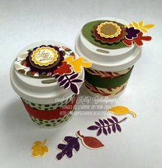 """Always Stampin' with Kelly Gettelfinger: """"Mini Coffee Cup TOTE"""" and sleeve TUTORIAL"""