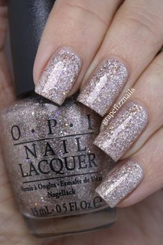 """✔☆OPI Nail Polish~Winter 2015 Starlight Collection~""""CE-LESS-TIAL IS MORE"""" is a stunning rose gold textured glitter with holo glitter mixed in.  Used two thick coats with two thick top coats."""