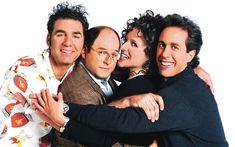 """Seinfeld"" - Jerry Seinfeld, Julia Louis-Dreyfus, Michael Richards and Jason Alexander. Julia Louis Dreyfus, Jerry Seinfeld, Johnny Galecki, Carmen Sandiego, Larry David, 90s Tv Shows, Movies And Tv Shows, Jane Fonda, Rugrats"