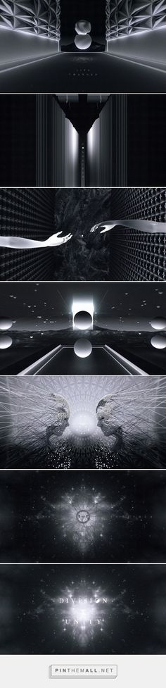 The mirror image of these photos is an example of unity making them identical on both sides. 3d Design, Graphic Design, Creation Art, Stage Design, Motion Design, Motion Graphics, Unity, Design Inspiration, Film Inspiration