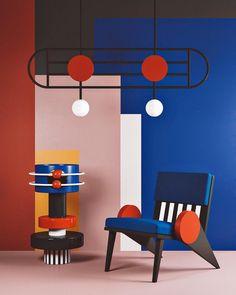 Bauhaus Interior Design – Home Interior Decor Interior Bauhaus, Interior Architecture, Bauhaus Furniture, Memphis Design, Memphis Art, Colorful Interior Design, Colorful Interiors, Interior Colors, Modern Interior