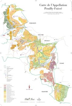 Map of the Pouilly-Fuisse appellation in the Maconnais, southern Burgundy