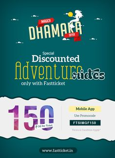 #Adventure & #Attractions make a perfect combo for a gang of crazy friends & loving family.   Plan your #Adlabs #Imagica trip this #weekend & SAVE big on every bookings from www.fastticket.in & via #Fastticket Mobile #App. Checkout: http://fastticket.in/other/special-offers
