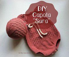Con hilos, lanas y botones: DIY capota de punto para bebé (patrón gratis) Knitting For Kids, Free Knitting, Baby Knitting, Knitting Patterns, Lana, Knitted Hats, Knit Crochet, Baby Kids, Winter Hats