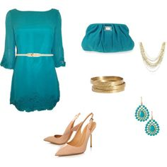 """""""teal"""" by iugirl1999 on Polyvore"""