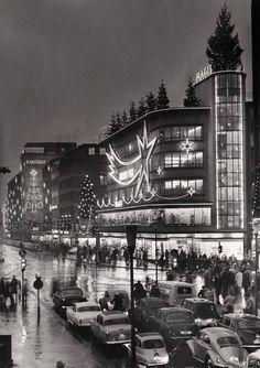 12.12.1959: Georgstraße Richtung Steintor, Hannover Zentrum