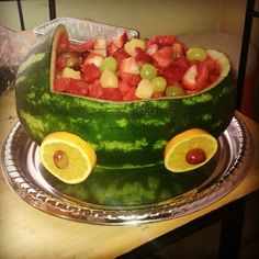 Watermelon Fruit Buggy for a Baby Shower #watermelon #baby