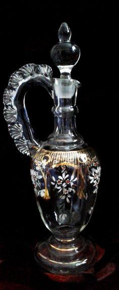 Mid 19thC. enamelled Bohemian wine jug