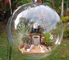 Garden Bubble - Owl: to hang in trees beside river next to us.