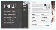 25+ Modern CV/Resume WordPress Themes