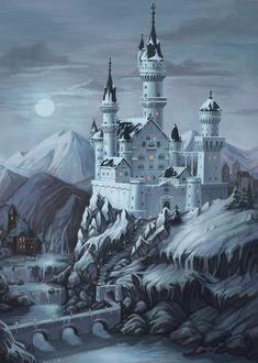 Castle, Lily Morran on ArtStation at https://www.artstation.com/artwork/qJ9re