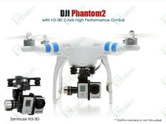 DJI Phantom 2 Ready to Fly Quadcopter With Zenmuse H3-3D Camera Gimbal R...