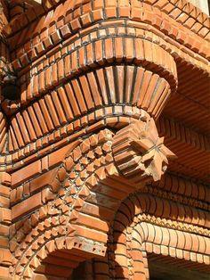 ideas for exterior facade design fence Brick Architecture, Victorian Architecture, Concept Architecture, Brick Cladding, Brick Facade, Brick Design, Facade Design, Brick Projects, Brick Works