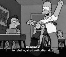 rebel against authority