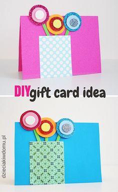 laurka/kartka na dzień babci i dziadka, mamy i taty / Diy gift card idea Diy Cards, Techno, Crafts For Kids, Activities, How To Make, Gifts, Scrapbooking, Ideas, Cards