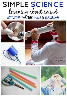 Simple Sound Science Experiments for Kids. Great activities for a mini-sound science unit.