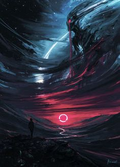 """Echoes Of Fantasy — st-just: The Omen by Alena Aenami """"It was. Echoes Of Fantasy — st-just: The Omen by Alena Aenami """"It was. Dark Fantasy Art, Fantasy Artwork, Digital Art Fantasy, Science Fiction, Arte Horror, Horror Art, Yuumei Art, The Omen, Arte Obscura"""