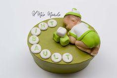 Boite à dent bébé dans les tons vert, avec jouet cube en Fimo (pâte polymère): Créé par Il Mio Mondo : https://www.facebook.com/ilmiomondo26