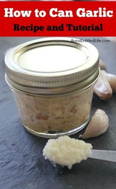 Canned Garlic Recipe. Make your own, minced, canned garlic! Have garlic on hand at all times to add to your delicious recipes by canning your own. In just over an hour you can have enough canned garlic to last a year with this easy canned garlic recipe.