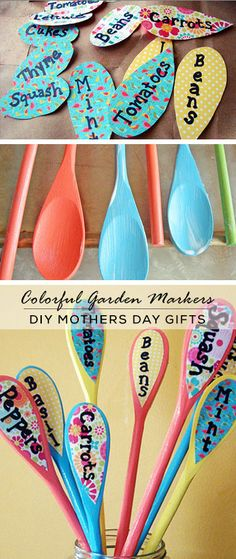 DIY Garden Markers - Mothers Day Crafts for Kids - Click for Tutorial