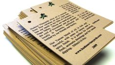 product hang tag ideas | 50 Custom Product Hang Tags, Labels or Favor Tags of Kraft . 2 x 3.5 ...
