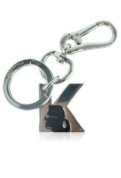 KARL--黑Q漫LOGO簡約鑰匙圈