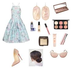 """Untitled #103"" by catchingmaya on Polyvore featuring Chi Chi, Christian Louboutin, Kendra Scott, Urban Decay, MAC Cosmetics, Stila, Too Faced Cosmetics, Maybelline, Hourglass Cosmetics and Benefit"