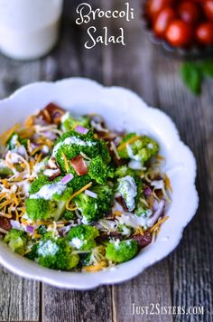 Dec 2019 - This Broccoli Salad recipe is easy to make and tastes great. It's always requested at family gatherings and potluck suppers. Side Recipes, Healthy Salad Recipes, New Recipes, Cooking Recipes, Favorite Recipes, Recipies, Vegetable Recipes, Yummy Recipes, Yummy Food