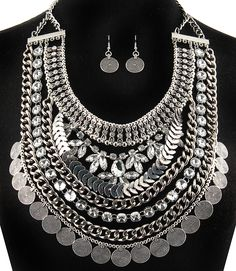 PWB0430 - Tribal bib necklace - $49.99 : Shop Trendy Jewelry and Accessories, Peeny Wallie Boutique